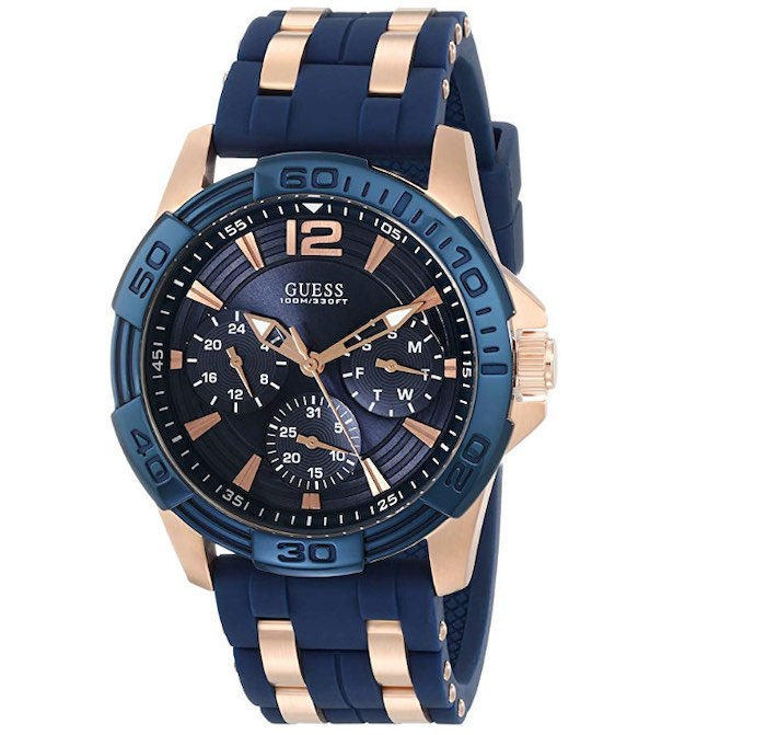 relojes de hombre: GUESS Stainless Steel Casual Silicone