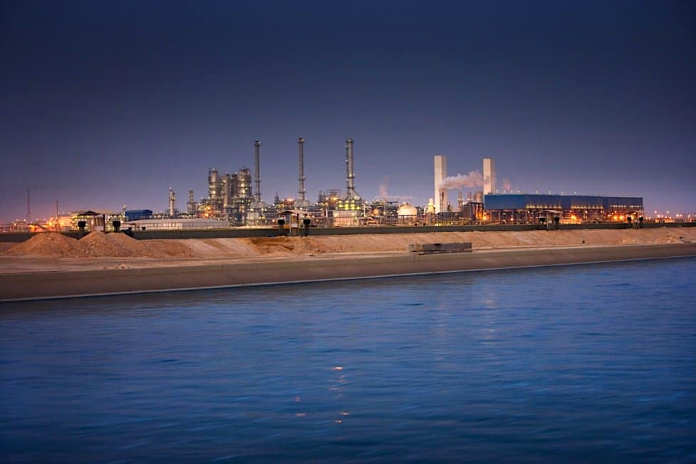 Planta de gas natural en Qatar