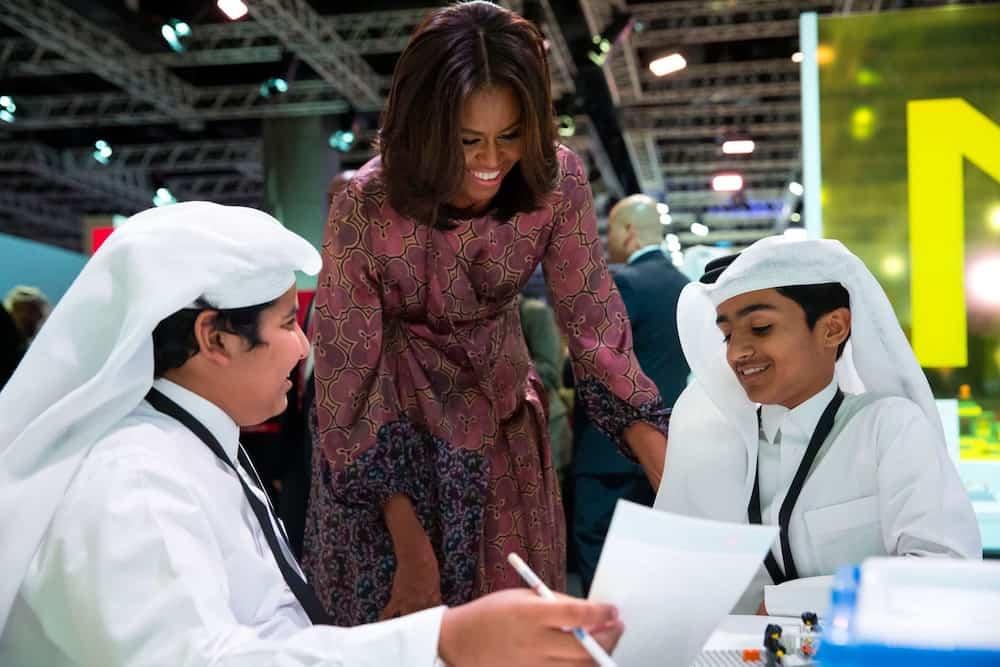 Michelle Obama visita Qatar